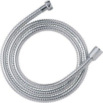 Flexible de douche métal simple agrafage 150cm, chromé
