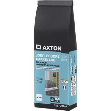Joint poudre tout type de carrelage et mosaïque AXTON, blanc, 5 kg