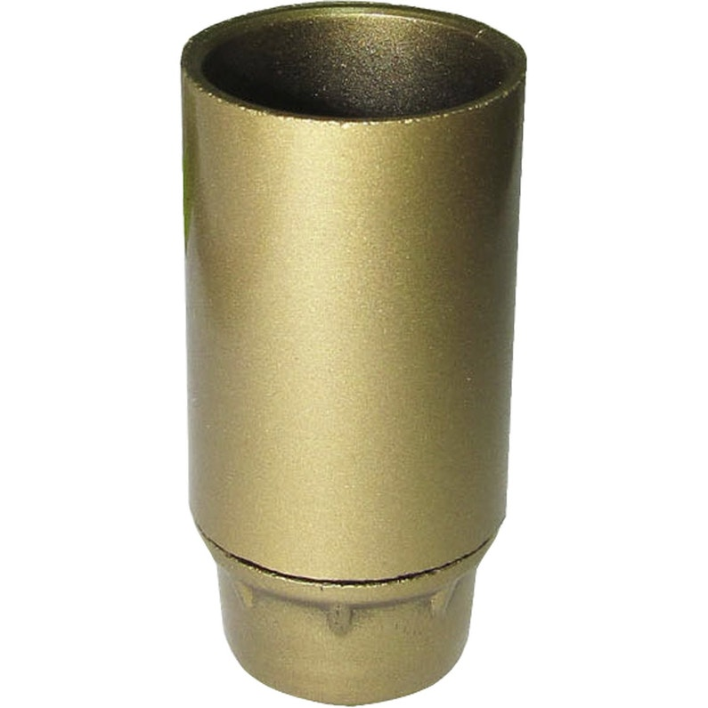 Douille Lisse E14 Tibelec Plastique Or 40 W