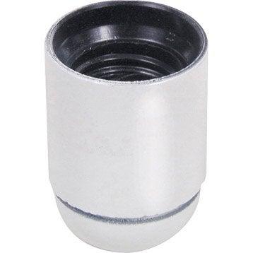 Douille lisse E27 TIBELEC, plastique, blanc 60 W