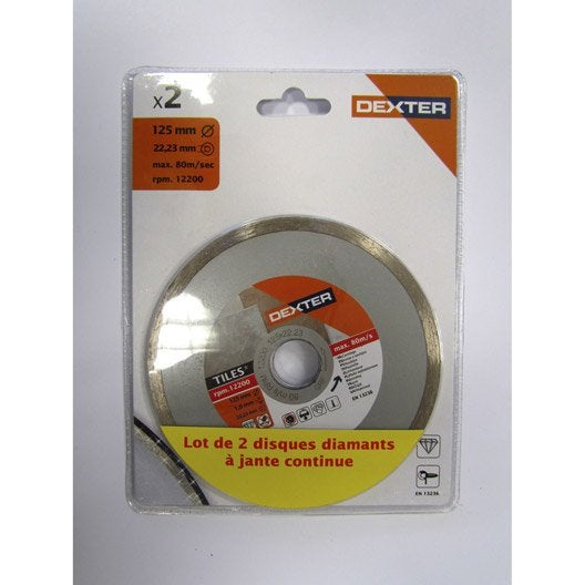 Lot 2 disques diamant plein tron onner pour carrelage - Meule pour carrelage ...