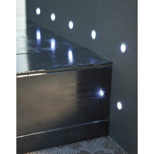 lot de 10 spots encastrer ext rieur cosa diam 1 5 cm acier inoxydable leroy merlin. Black Bedroom Furniture Sets. Home Design Ideas