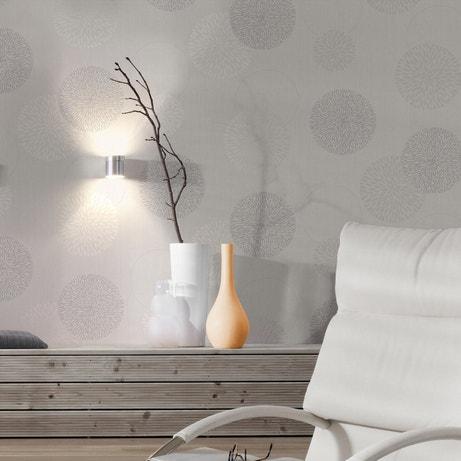 Des motifs en bulles sur votre papier peint intissé gris