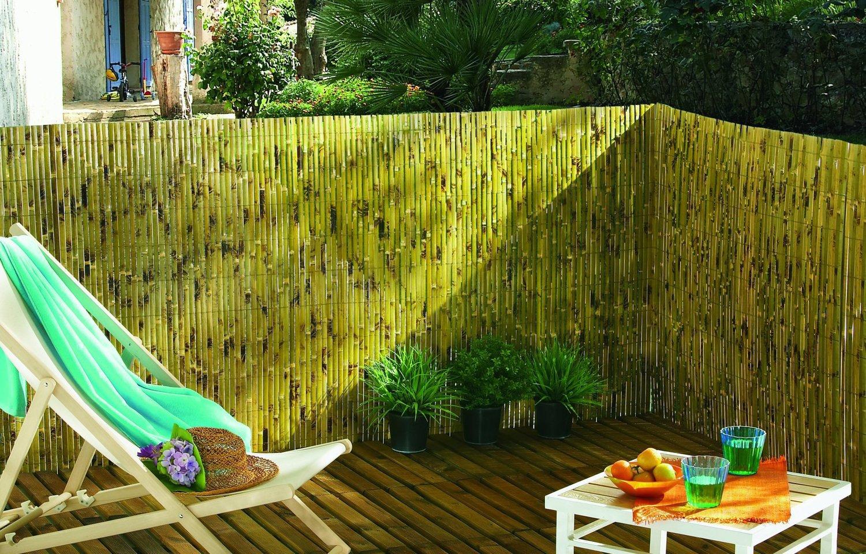 occultation naturelle en bambou de votre terrasse   leroy merlin