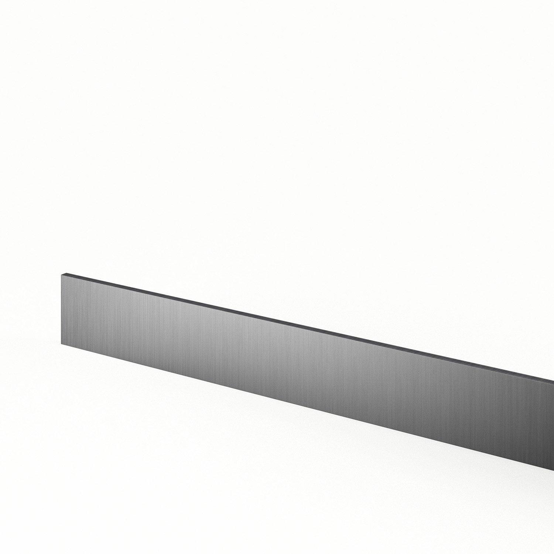 plinthe de cuisine d cor aluminium stil x cm leroy merlin. Black Bedroom Furniture Sets. Home Design Ideas