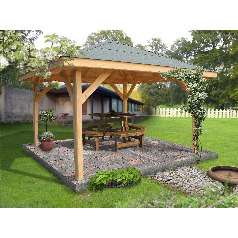 Awesome Kiosque Jardin Bois Exotique Photos - Amazing Design Ideas ...