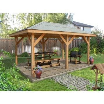 Kiosque bois, kiosque de jardin au meilleur prix | Leroy Merlin