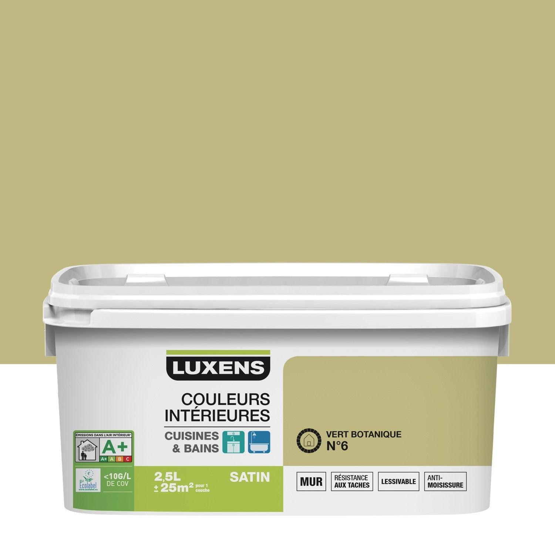 Peinture Couleurs Intérieures LUXENS, Vert Botanique 6, 2.5 L