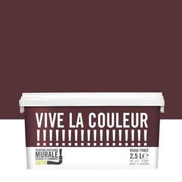 Peinture rouge foncé VIVE LA COULEUR! 2.5 l