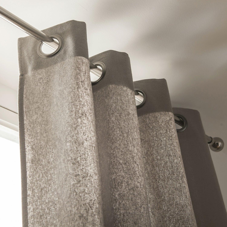 Rideau tamisant, Metis, taupe, l.135 x H.260 cm | Leroy Merlin