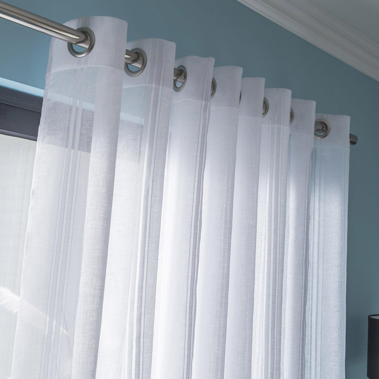 voilage tamisant diamant blanc x cm leroy merlin. Black Bedroom Furniture Sets. Home Design Ideas