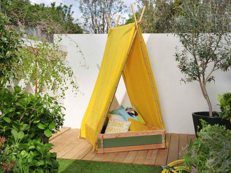 diy fabriquer une tente de jeux pour enfants leroy merlin. Black Bedroom Furniture Sets. Home Design Ideas