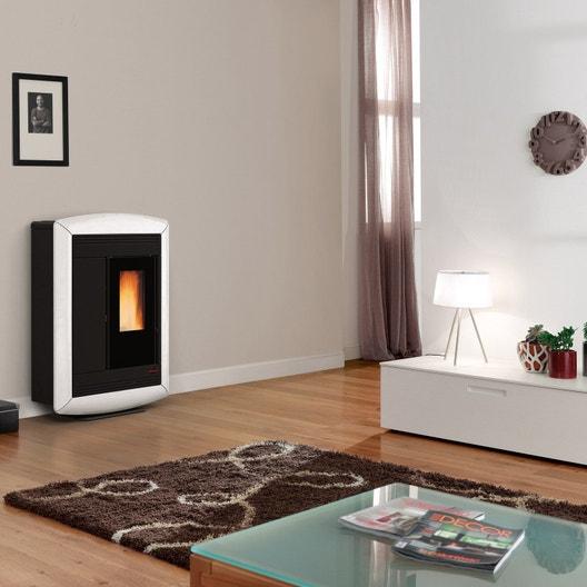 po le granul s extraflame souvenir lux blanc 10 2 kw leroy merlin. Black Bedroom Furniture Sets. Home Design Ideas