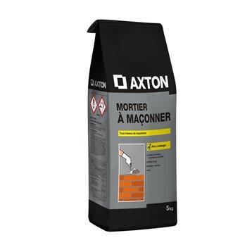 Mortier à maçonner poudre gris AXTON, 5 kg