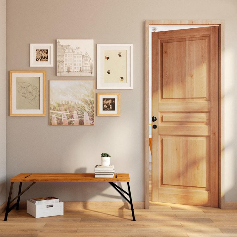 un bloc porte en ch ne rustique pour une entr e authentique leroy merlin. Black Bedroom Furniture Sets. Home Design Ideas
