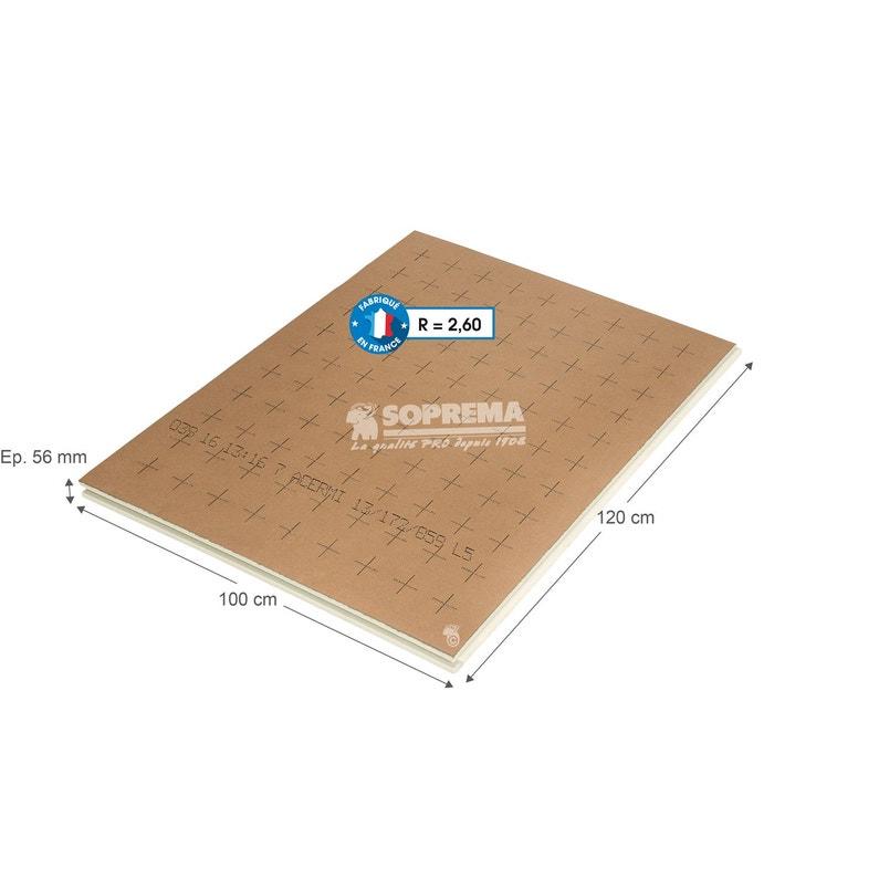 Panneau Pour Isolation Polyuréthane L1 X L12 X Ep56 Mm Rr1 à R3
