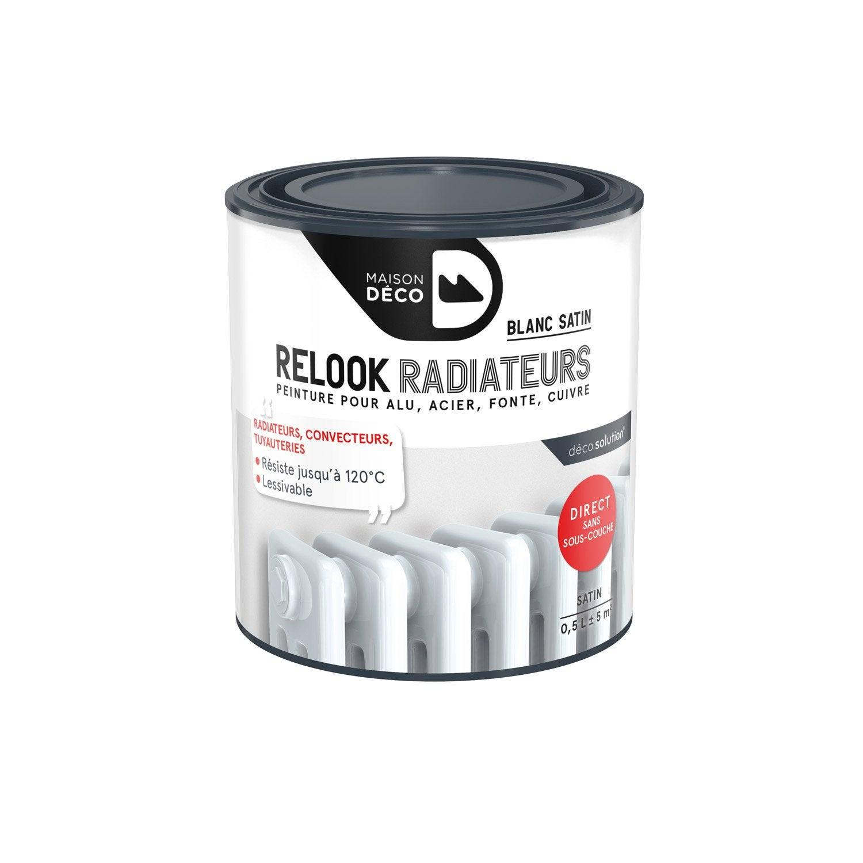 Peinture Relook Radiateurs MAISON DECO Blanc Satin 0.5 L