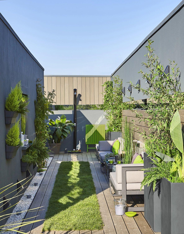 Salon de jardin contemporain pour cour urbaine | Leroy Merlin