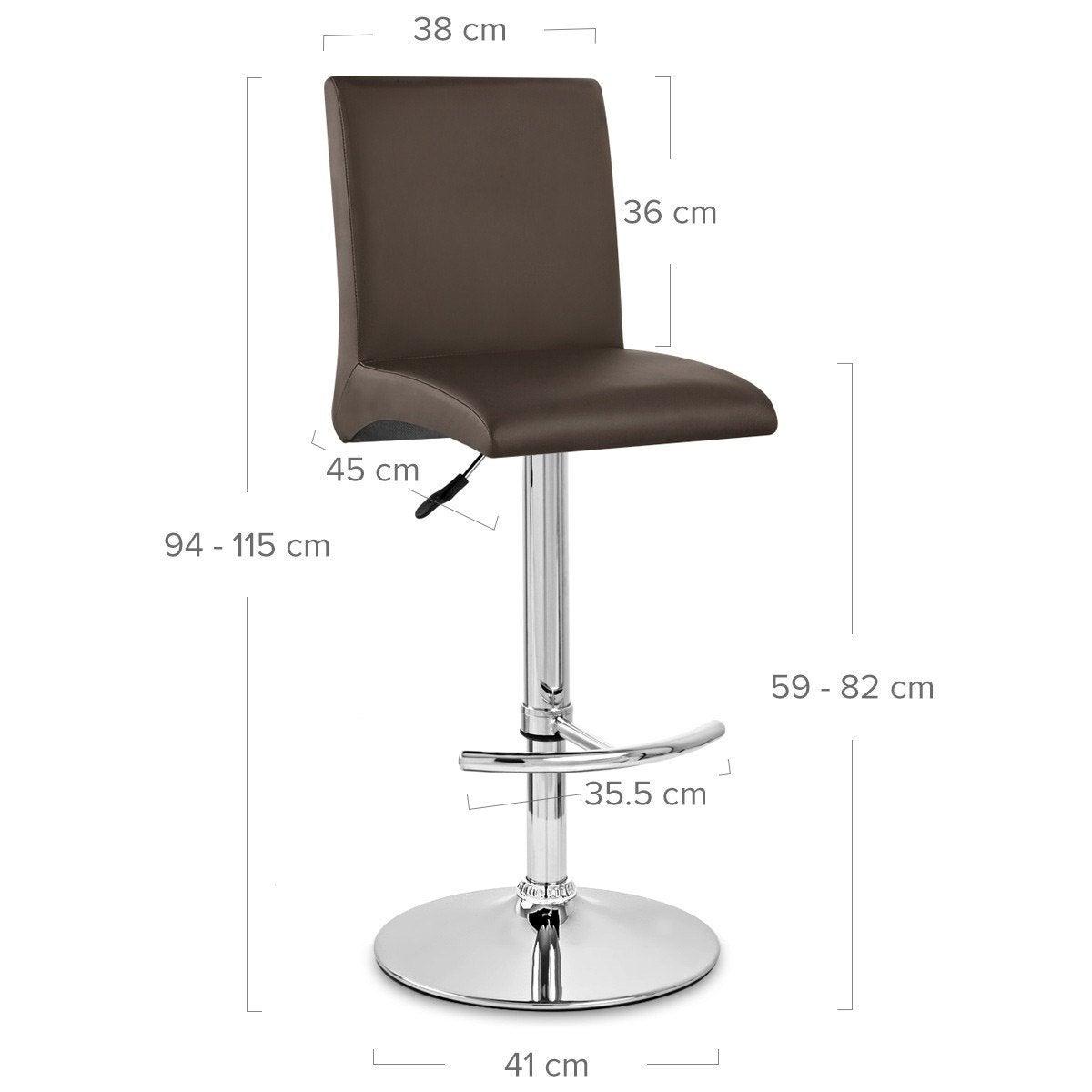 chaise de bar deluxe high back