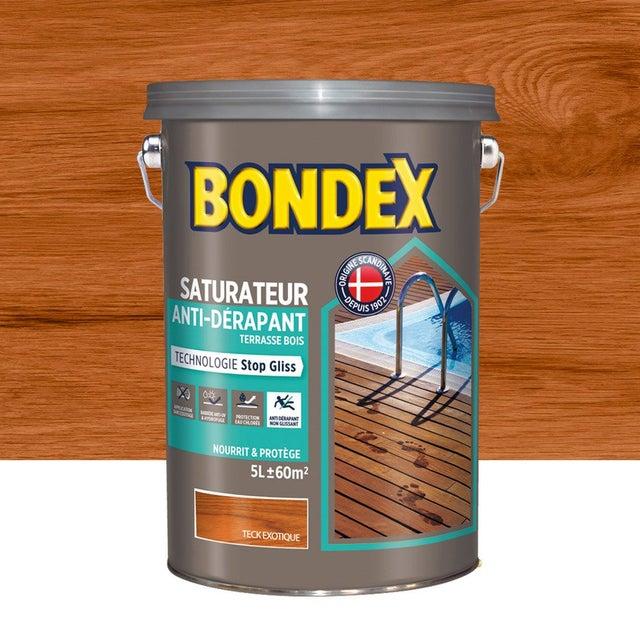 Saturateur Bondex Anti Derapant Terrasse 5 L Teck Exotique