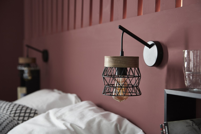Rouge Dans Une Chambre on ose le rouge sur la tête de lit de la chambre   leroy merlin