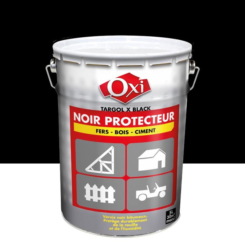 Revêtement Détanchéité Mur Extérieur Oxi Noir Protecteur Noir 5 L