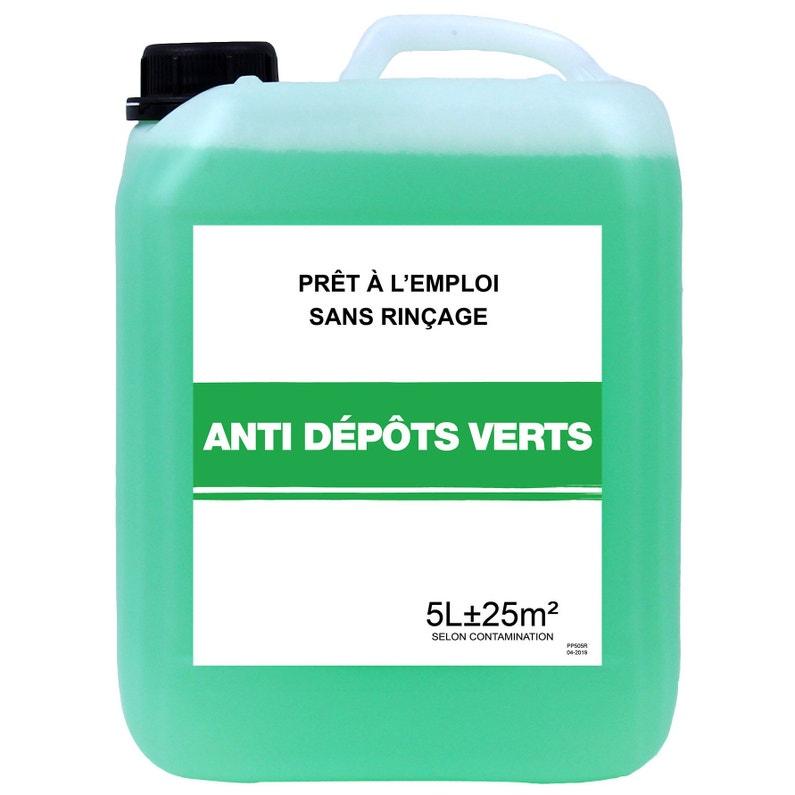 Traitement Anti Dépots Verts Pour Toitures Façades Et Terrasses 5 L