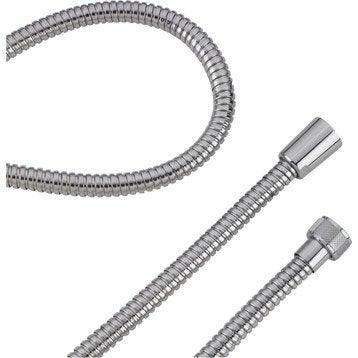Flexible de douche chrome L.200 cm, SENSEA