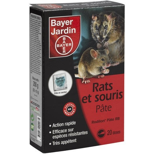 recharge antirats et souris bayer, 200 g | leroy merlin
