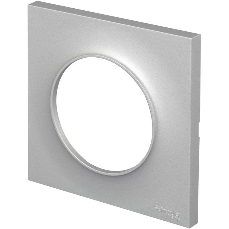 Plaque Simple Odace Schneider Electric Aluminium