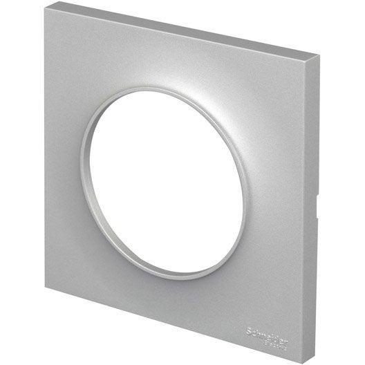 plaque odace schneider electric aluminium mat leroy merlin. Black Bedroom Furniture Sets. Home Design Ideas