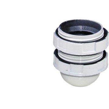 Douille toute filetée E27 TIBELEC, plastique, blanc 60 W