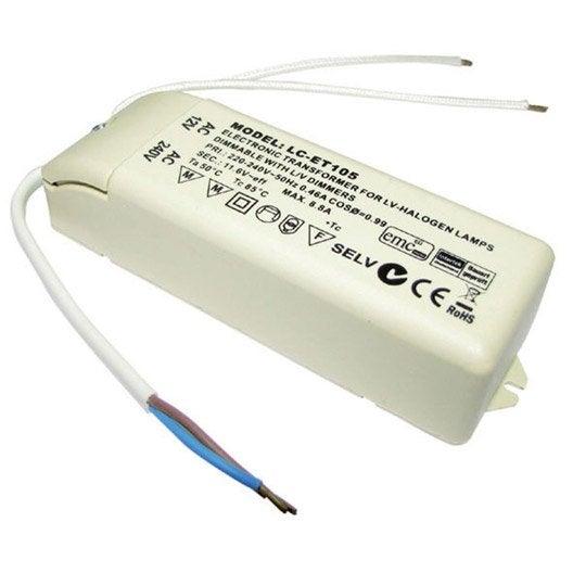 Transformateur électronique TIBELEC, plastique, beige 105 W