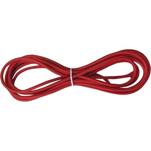 Fil tissu TIBELEC, tissu, rouge