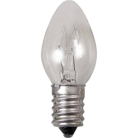 Lampe veilleuse e14 tibelec verre transparent 7 w leroy merlin - Veilleuse pour salon ...