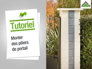 Monter des piliers de portail
