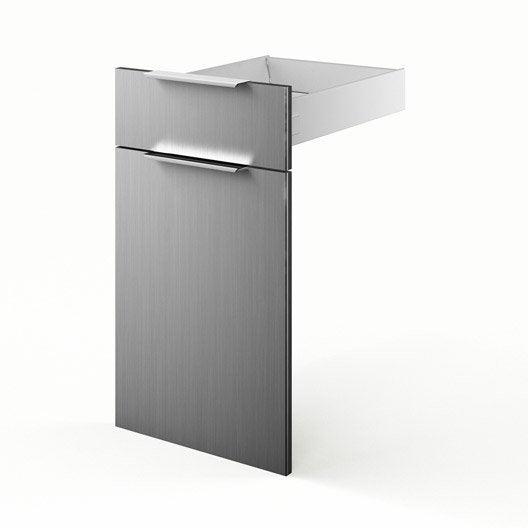 Porte et tiroir de cuisine d cor aluminium stil x h for Porte cuisine aluminium