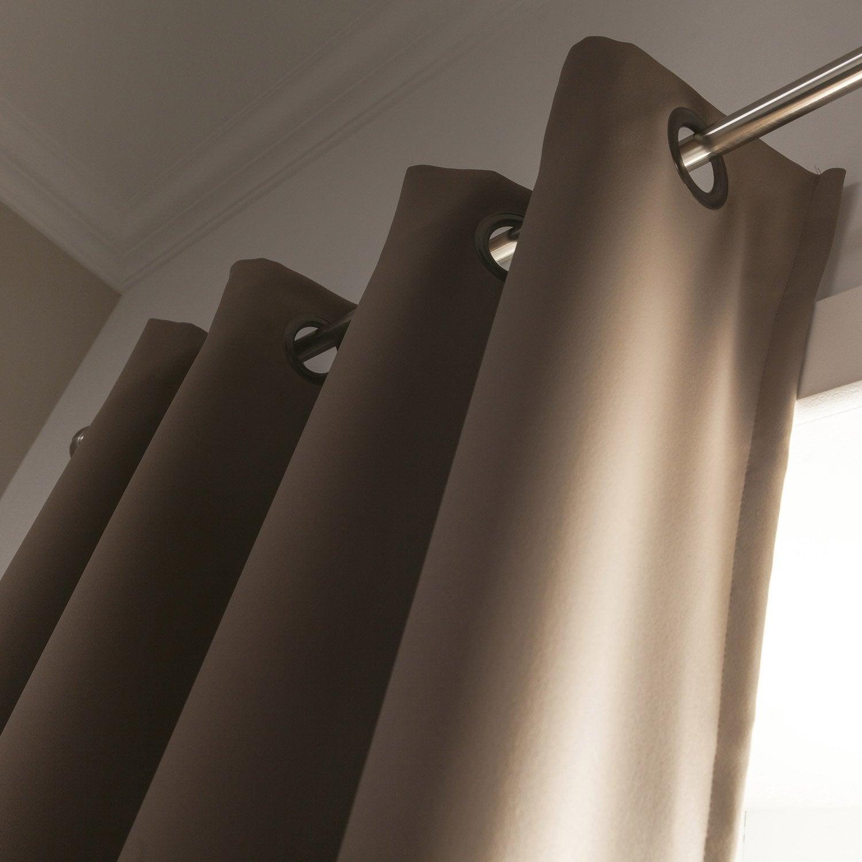 rideau occultant moondream marron clair x cm leroy merlin. Black Bedroom Furniture Sets. Home Design Ideas