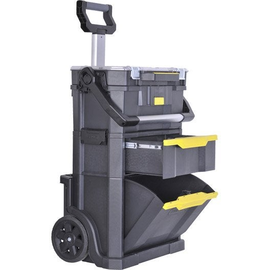 servante de chantier stanley modulo 2 en 1 plastique. Black Bedroom Furniture Sets. Home Design Ideas