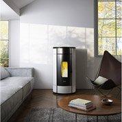 Poêle à granulés FREEPOINT Globe blanc 10.5 kW