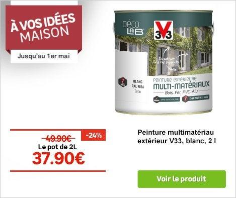 OP A vos idées maison 29.03-01.05.17 - Peinture multimatériau extérieur V33 blanc