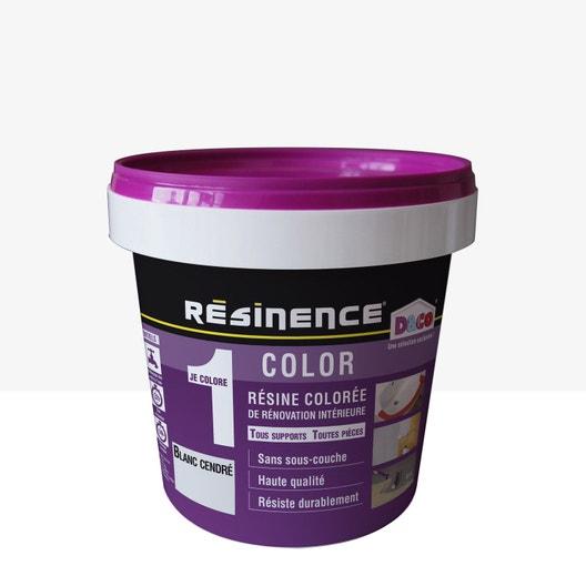 r sine color e color resinence blanc cendr 0 5 l leroy merlin. Black Bedroom Furniture Sets. Home Design Ideas