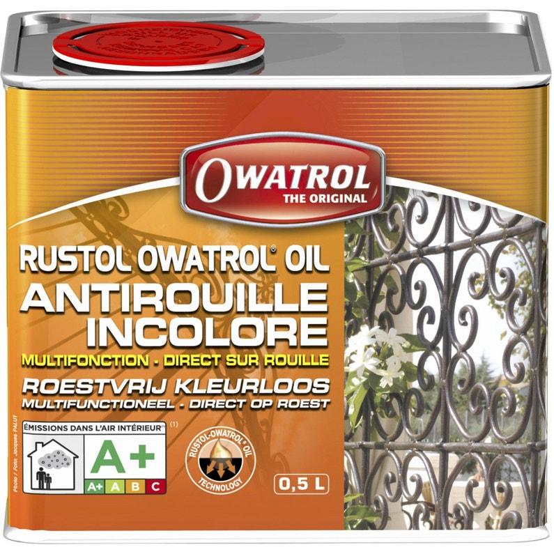Protection Antirouille Extérieur Intérieur Rustol Owatrol Incolore 05 L