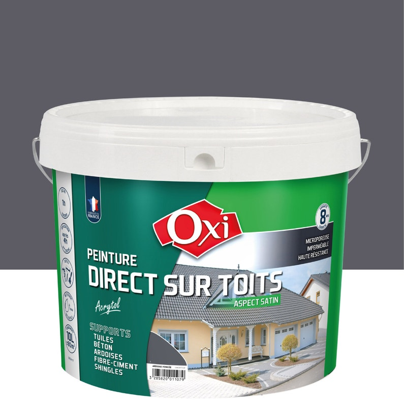 Peinture Toiture Extérieur Acrytol Oxytol Ardoise 10 L