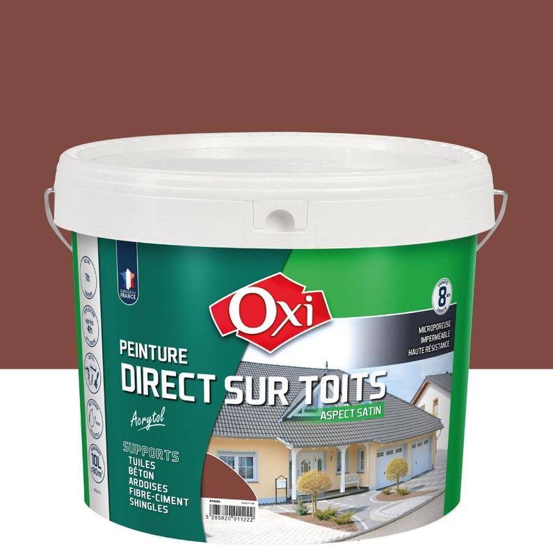 Peinture Toiture Extérieur Acrytol Oxytol Rouge 10 L