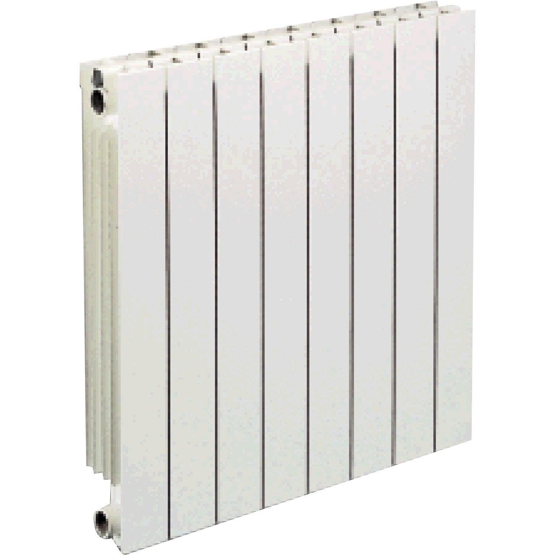 Radiateur Chauffage Central Vip 8 éléments Blanc, L.64 Cm, 1000 W