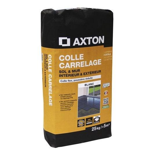 Mortier colle flexible pour carrelage mur et sol 25 kg for Mortier colle exterieur