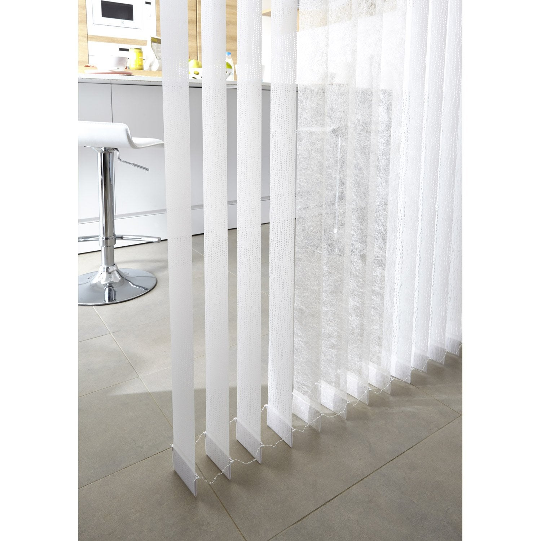 5 lamelles verticales orientables perle blanc x cm leroy merlin. Black Bedroom Furniture Sets. Home Design Ideas