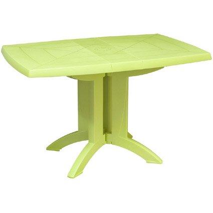 table de jardin grosfillex v ga rectangulaire vert anis 4 personnes leroy merlin. Black Bedroom Furniture Sets. Home Design Ideas