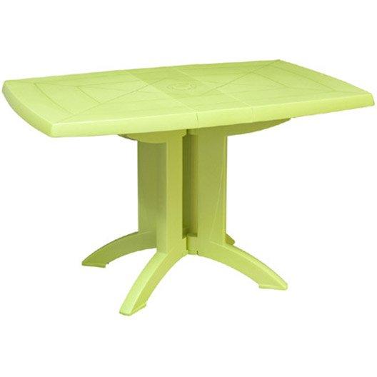 Table de jardin grosfillex v ga rectangulaire vert anis 4 for Table de jardin verte